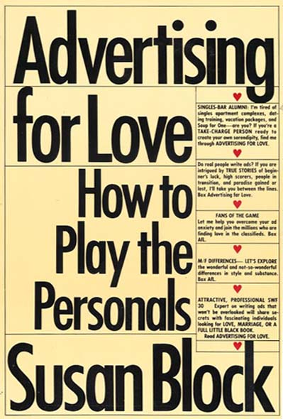 Advertising for Love – Dr. Susan Block