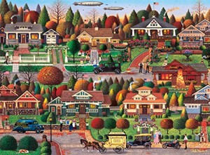 Labor Day in Bungalowville by Charles Wysocki - 1000 Piece Jigsaw Puzzle by Buffalo Games