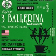 3 Pack of 3 Ballerina Dieters Tea for Men and Women (3 Boxes of 30 Tea Bags)