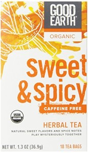 Good Earth Organic Sweet & Spicy Caffeine Free Herbal Tea, 18 Tea Bags (Pack of 6)