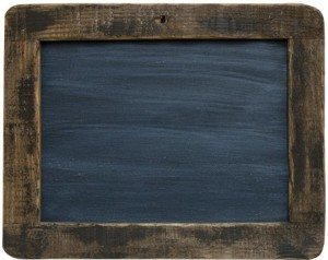 "Framed Blackboard - 9-1/2"" Primitive Country Rustic Chalkboard Messageboard Wall Decor by Generic"