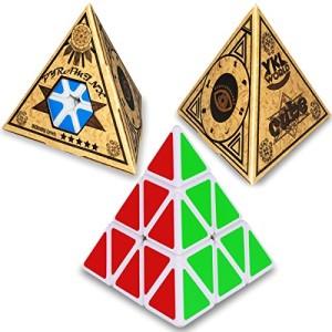 YKL World Pyraminx Puzzle Cube,white