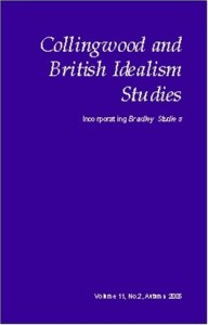 Collingwood and British Idealism Studies