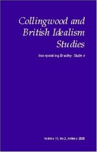 Collingwood and British Idealism Studies