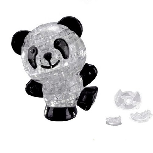 3D Crystal Puzzle 53 pieces Panda Model(Black & White) Toys Kids
