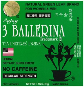 Diet Tea for Men and Women 30 Tea Bags, Three Ballerina