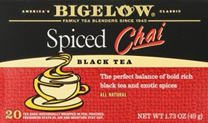 Bigelow Spiced Chai Tea, 20-Count Boxes (Pack of 6)
