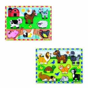 Melissa & Doug Chunky Bundle - Farm & Pets