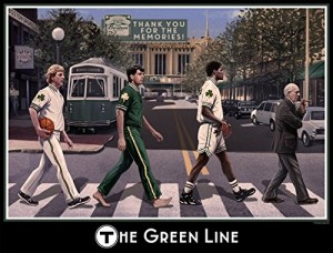 I Love Boston Sports 16x20 Wall Print - The Green Line