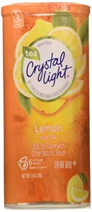 Crystal Light Iced Tea Drink Mix, Natural Lemon Flavor (12-Quart), 1.4-Ounce Packages (Pack of 4)