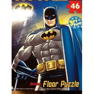 "BATMAN My Size FLOOR Puzzle XL 46 PIECES (3 feet length - 24"" x 36"")"