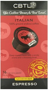 CBTL Italian Espresso Dark Capsules By The Coffee Bean & Tea Leaf, 16-Count Box