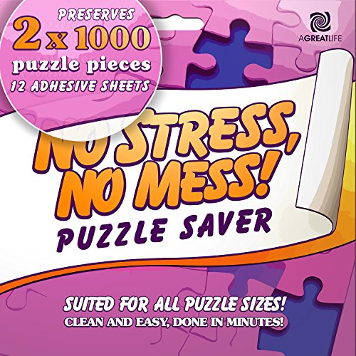 12-Sheet Peel & Stick Puzzle Saver: Preserve and Hang Your Jigsaw Masterpiece Without Hassle - Easily Frame Most Boards With a Strong Adhesive That Lasts