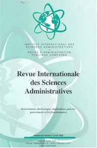 Revue Internationale Des Sciences Administratives - French E