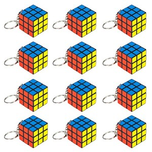 "12 Piece Party Pack of Mini 1.25"" Puzzle Cube Keychains by Pudgy Pedro's Party Supplies"