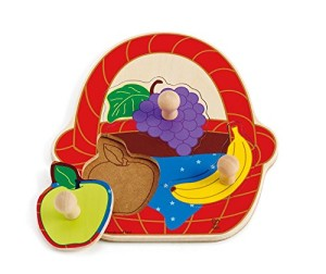 Hape - Fruit Basket Wooden Knob Puzzle
