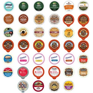 Flavored Coffee Variety Sampler Pack for Keurig K-Cup Brewers, 40 Count