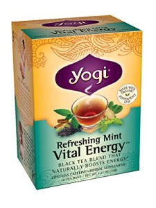 Yogi Refreshing Mint Vital Energy Tea, 16 Tea Bags (Pack of 6)