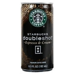STARBUCKS DOUBLESHOT ESPRESSO COFFEE DRINK 6.5 OZ CAN EACH (1)