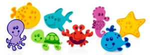 Nuby 16-Piece Floating Foam Bath Animals Set
