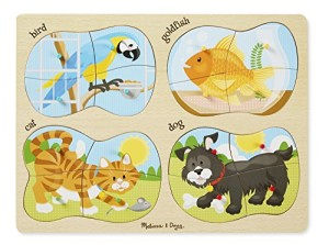 Melissa & Doug 4-in-1 Peg Puzzle - Pets