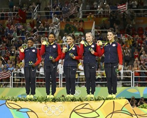 Final Five 2016 RIO Olympics USA Gymnastics Team Gold Medal 8x10 Photo