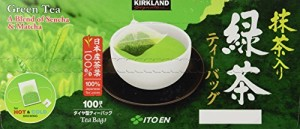 Kirkland Signature Ito En Matcha Blend (Green Tea), 100% Japanese Green Tea Leaves,