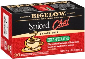 Bigelow Decaffeinated Spiced Chai Tea, 20-Count Boxes (Pack of 6)
