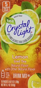Crystal Light On the Go, Iced Tea with Lemon Flavor, 10 Count Boxes (Pack of 4)