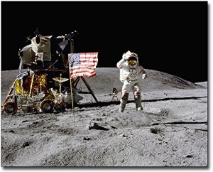 Apollo 16 John Young Jumping Salute on Moon 8x10 Silver Halide Photo Print