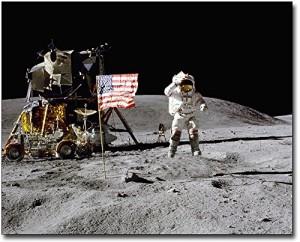 Apollo 16 John Young Jumping Salute on Moon 8x10 Silver Halide Photo Print