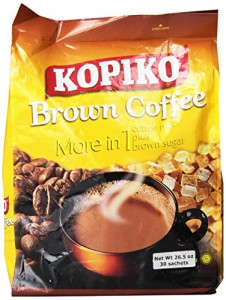 Kopiko Instant 3 in 1 Brown Coffee - 30 Packets/Bag (26.5 Oz)