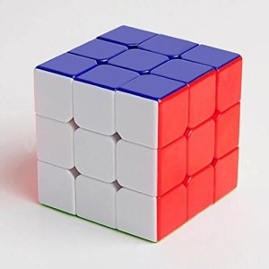 Amsam 3x3 Stickerless Speed Cube, Durable with Vivid Color, Smooth cornering Brain Teasers Puzzle Cube