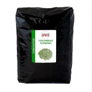 Colombian Supremo, Unroasted Green Coffee Beans, 5 lb by Coffee Bean Haus