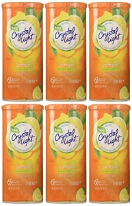 Crystal Light Lemon Decaf Iced Tea Natural Flavor Drink Mix, 12-Quart Canister (Pack of 6)