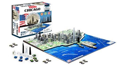 4D Cityscape Chicago Skyline Puzzle