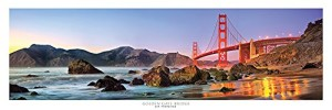 Award Winning Panoramic Art Print Poster #3 - San Francisco Golden Gate Bridge Sunset (Panorama Poster)