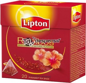 Lipton Tea - Rooibos - Premium Pyramid Tea Bags (20 Count Box) [PACK OF 3]