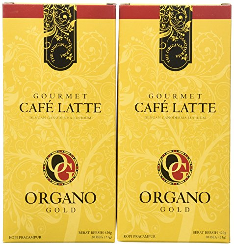 2 Boxes of Organo Gold Ganoderma -Gourmet Café Late (20 sachets per box)