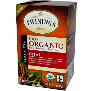 Twinings Chai Organic Tea, 20 Count Tea Bags 1.41 Ounce