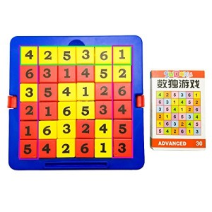 Sudoku Puzzles, Smart Logic Board Game Brain Teasers, 6 x 6 Junior Edition Number Games for over 6 Years Old