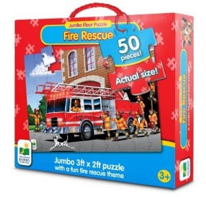 The Learning Journey Jumbo Floor Puzzles, Fire Engine Rescue