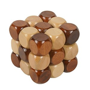 Little star Excellent IQ Brain Teaser 3D Wooden Interlocking Burr Puzzles Game Toy For Adults And Kids