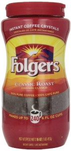 Folgers Instant Coffee Crystals, Classic Roast, 16 Ounce