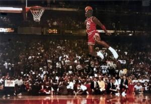Michael Jordan Famous Foul Line Dunk 24x36 Poster