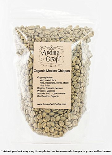 100% Certified ORGANIC Mexico Chiapas Altura EP Unroasted Green Coffee Beans