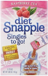 Diet Snapple Singles To Go Raspberry Tea Pack of 12