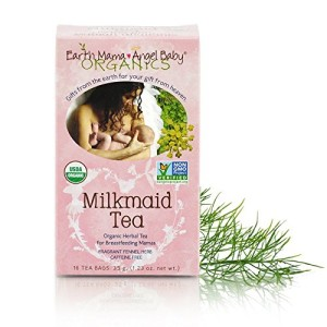 Earth Mama Angel Baby Organic Milkmaid Nursing Tea, 16 Teabags/Box