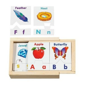 Melissa & Doug Alphabet Teaching Puzzle Cards