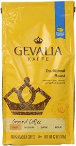 Gevalia Roast and Ground Coffee, Traditional Blend, 12 Ounce (Pack of 6)